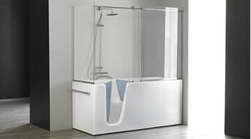 Vasca con sportello e doccia italia docce bagni